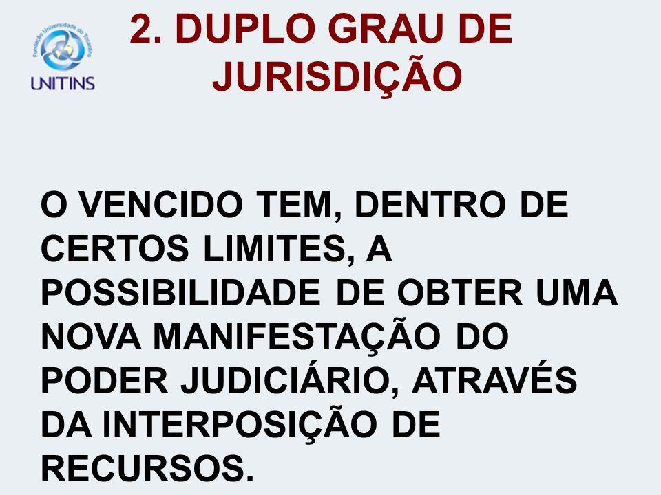 2. DUPLO GRAU DE JURISDIÇÃO