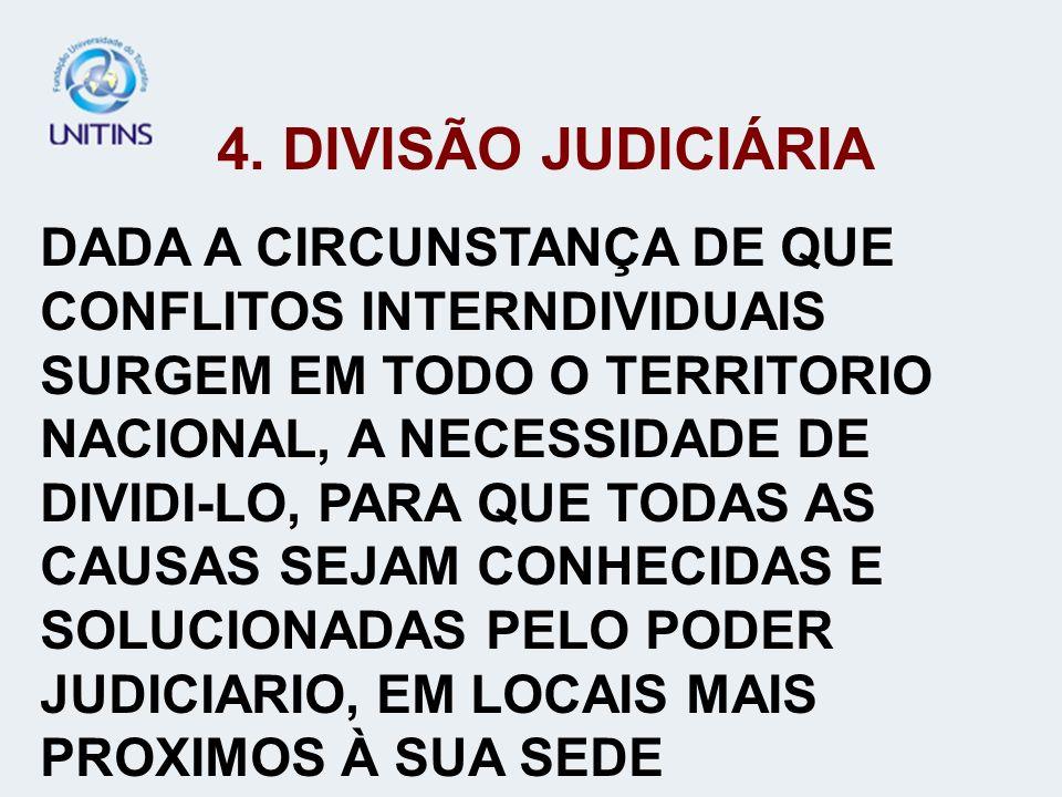 4. DIVISÃO JUDICIÁRIA