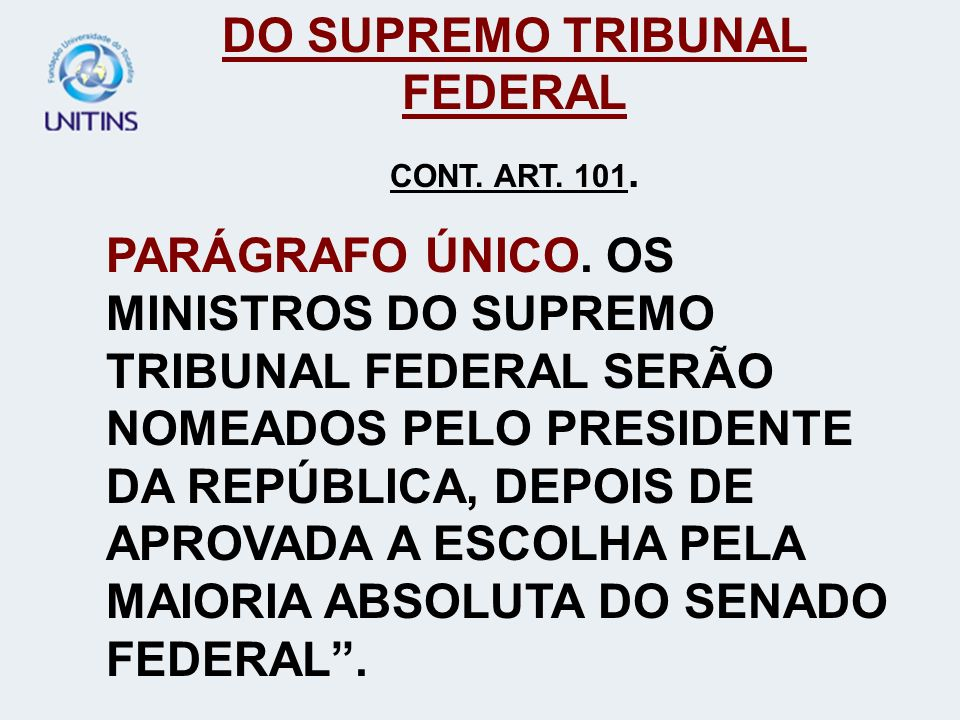 DO SUPREMO TRIBUNAL FEDERAL