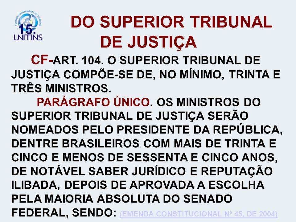 DO SUPERIOR TRIBUNAL DE JUSTIÇA