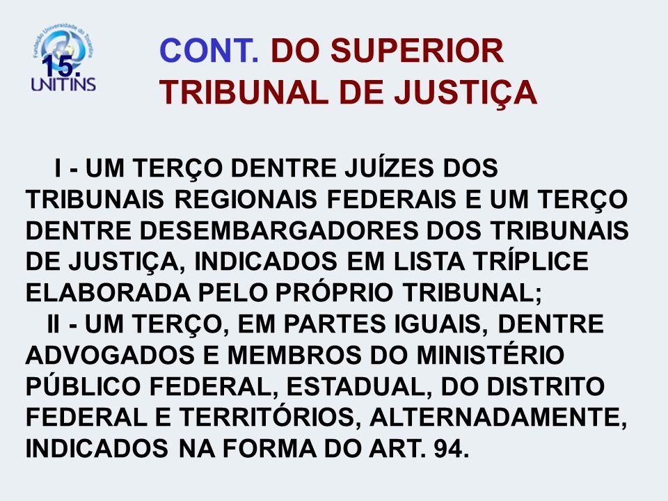CONT. DO SUPERIOR TRIBUNAL DE JUSTIÇA
