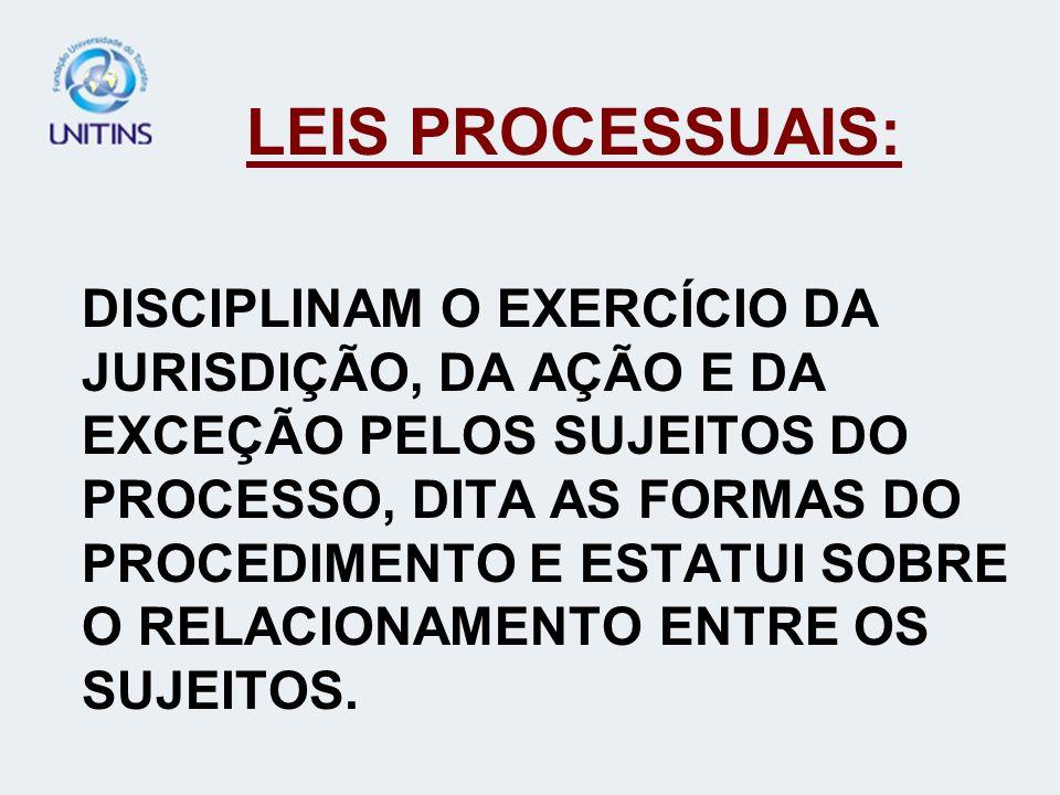 LEIS PROCESSUAIS: