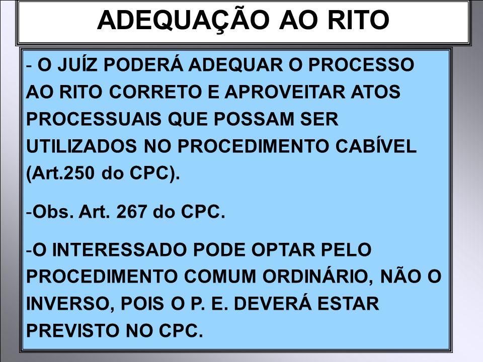 ADEQUAÇÃO AO RITO