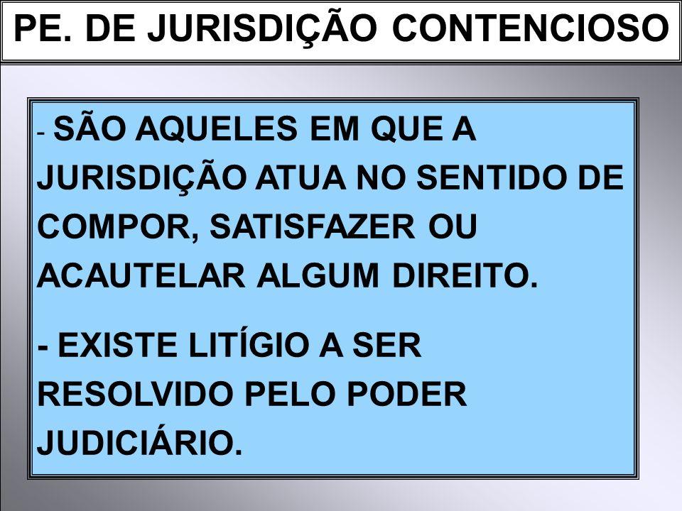 PE. DE JURISDIÇÃO CONTENCIOSO