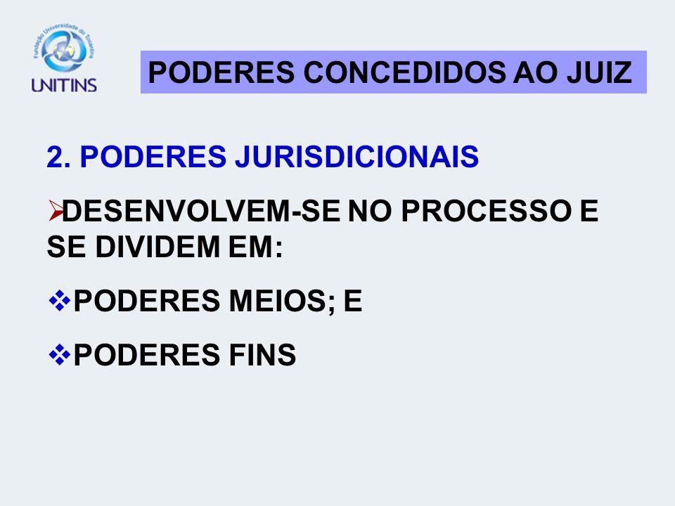 PODERES CONCEDIDOS AO JUIZ