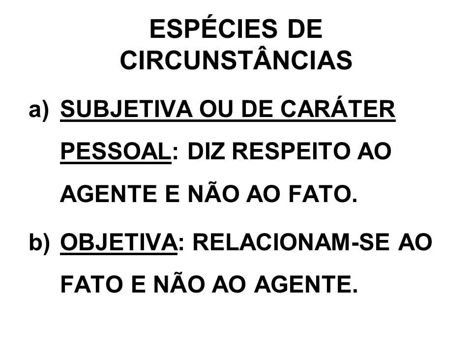 ESPÉCIES DE CIRCUNSTÂNCIAS