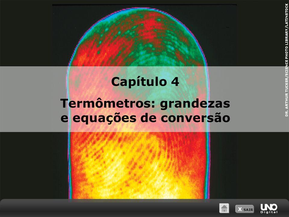 Termômetros: grandezas e equações de conversão
