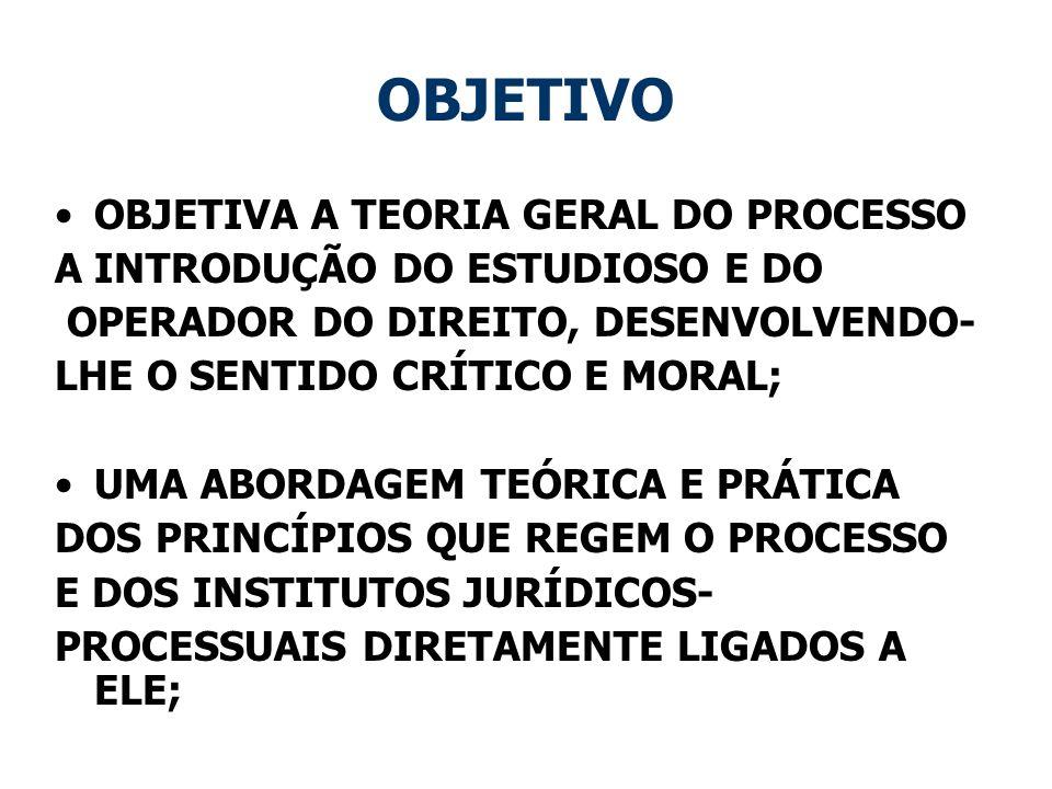 OBJETIVO OBJETIVA A TEORIA GERAL DO PROCESSO