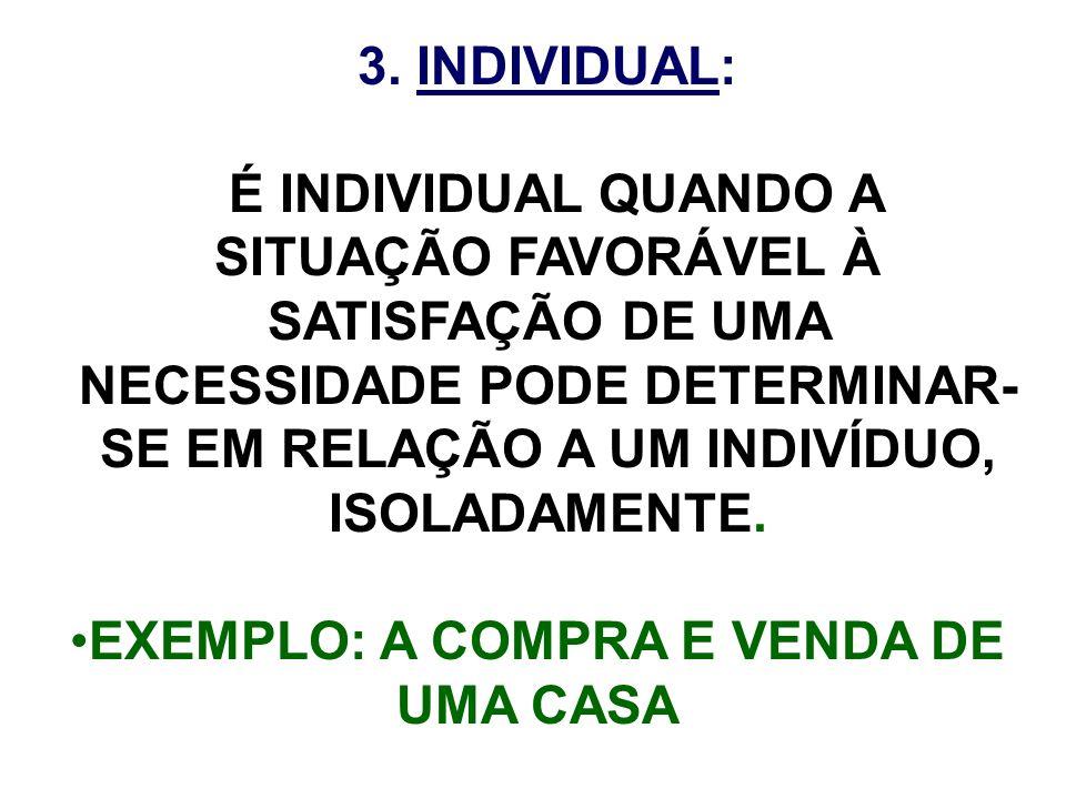 EXEMPLO: A COMPRA E VENDA DE UMA CASA