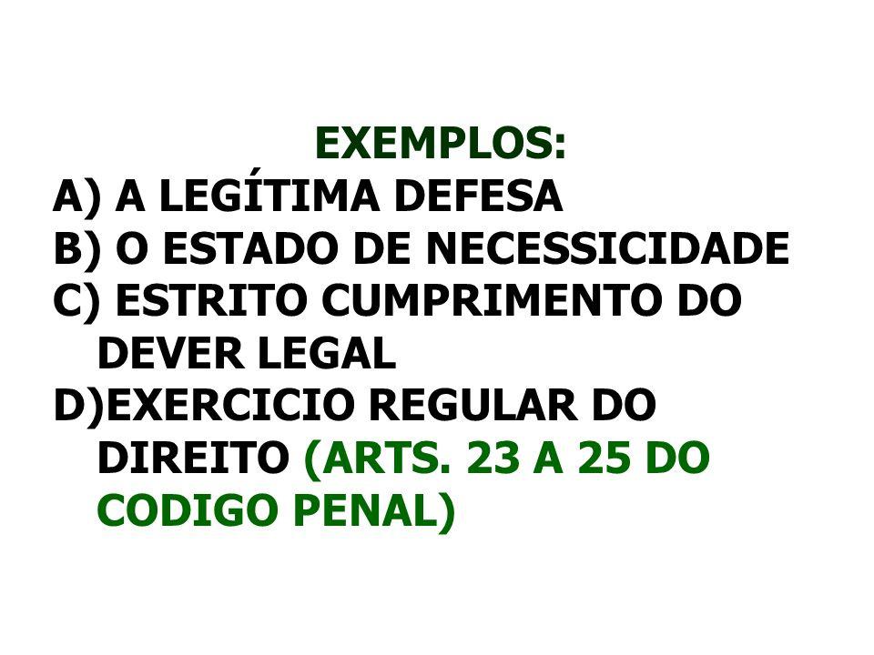 O ESTADO DE NECESSICIDADE ESTRITO CUMPRIMENTO DO DEVER LEGAL