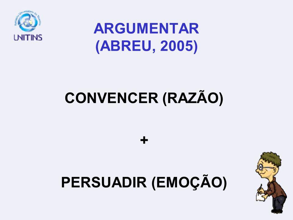 CONVENCER (RAZÃO) + PERSUADIR (EMOÇÃO)