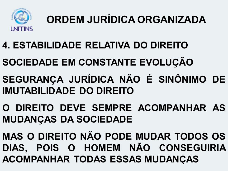ORDEM JURÍDICA ORGANIZADA