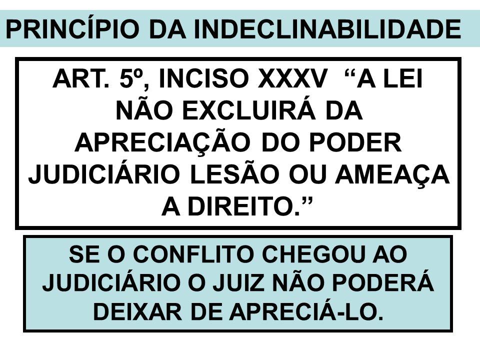 PRINCÍPIO DA INDECLINABILIDADE