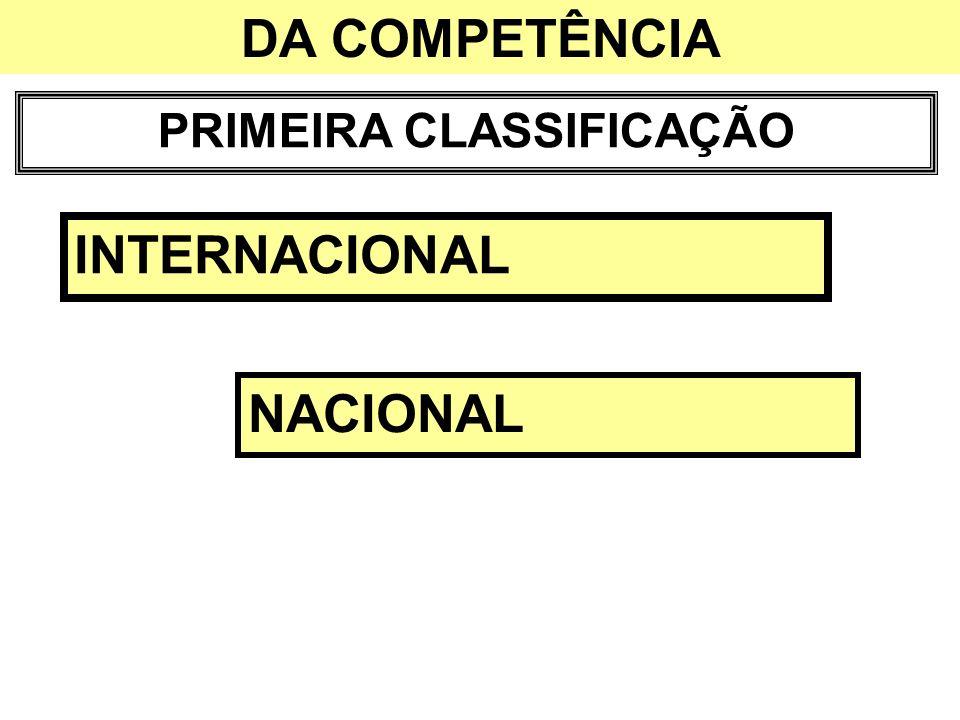 PRIMEIRA CLASSIFICAÇÃO