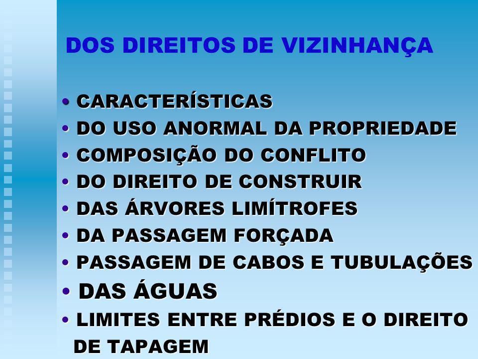 DOS DIREITOS DE VIZINHANÇA