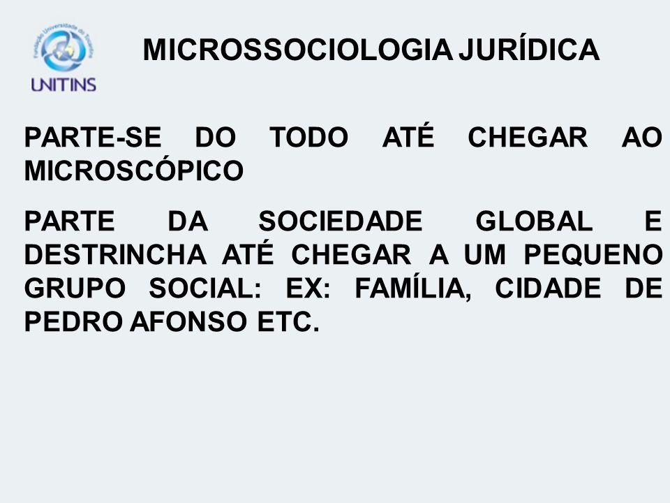 MICROSSOCIOLOGIA JURÍDICA