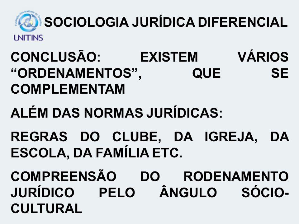 SOCIOLOGIA JURÍDICA DIFERENCIAL