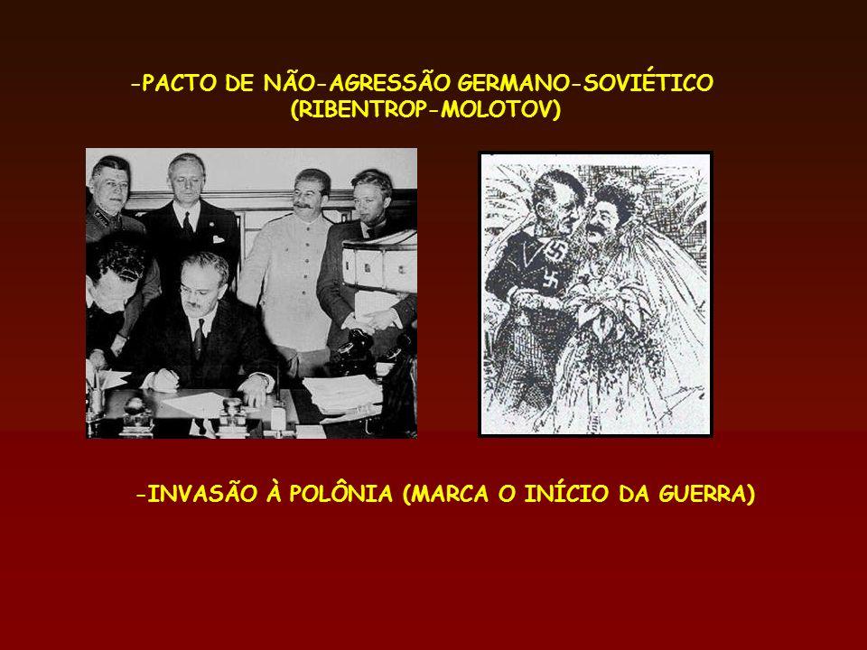 -PACTO DE NÃO-AGRESSÃO GERMANO-SOVIÉTICO
