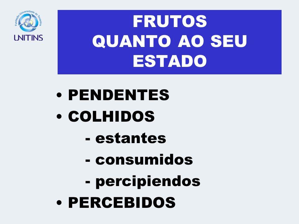 FRUTOS QUANTO AO SEU ESTADO