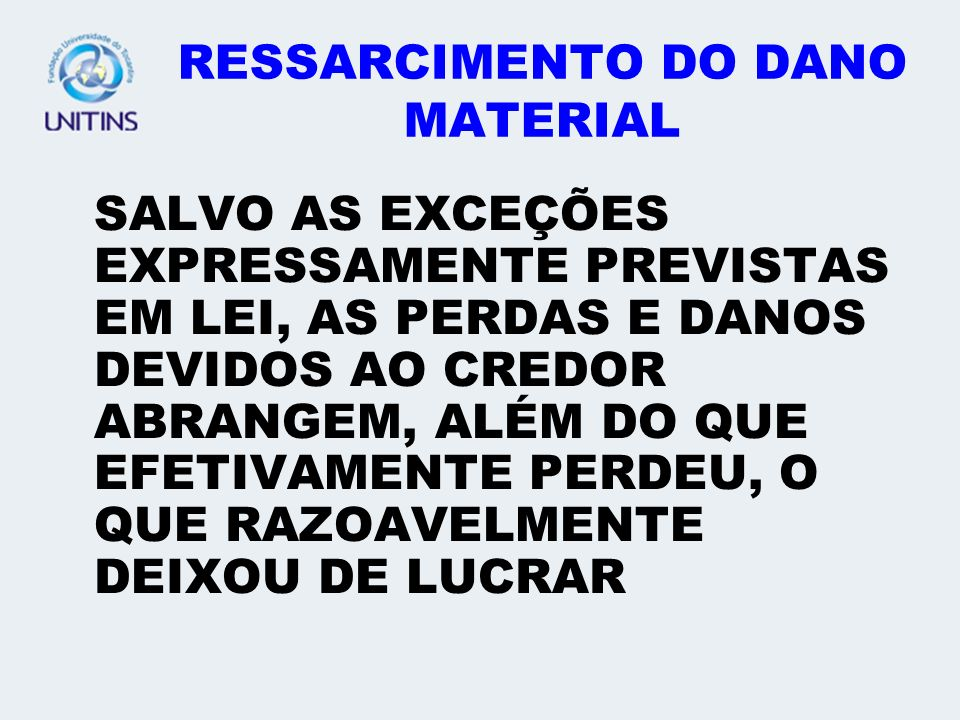 RESSARCIMENTO DO DANO MATERIAL