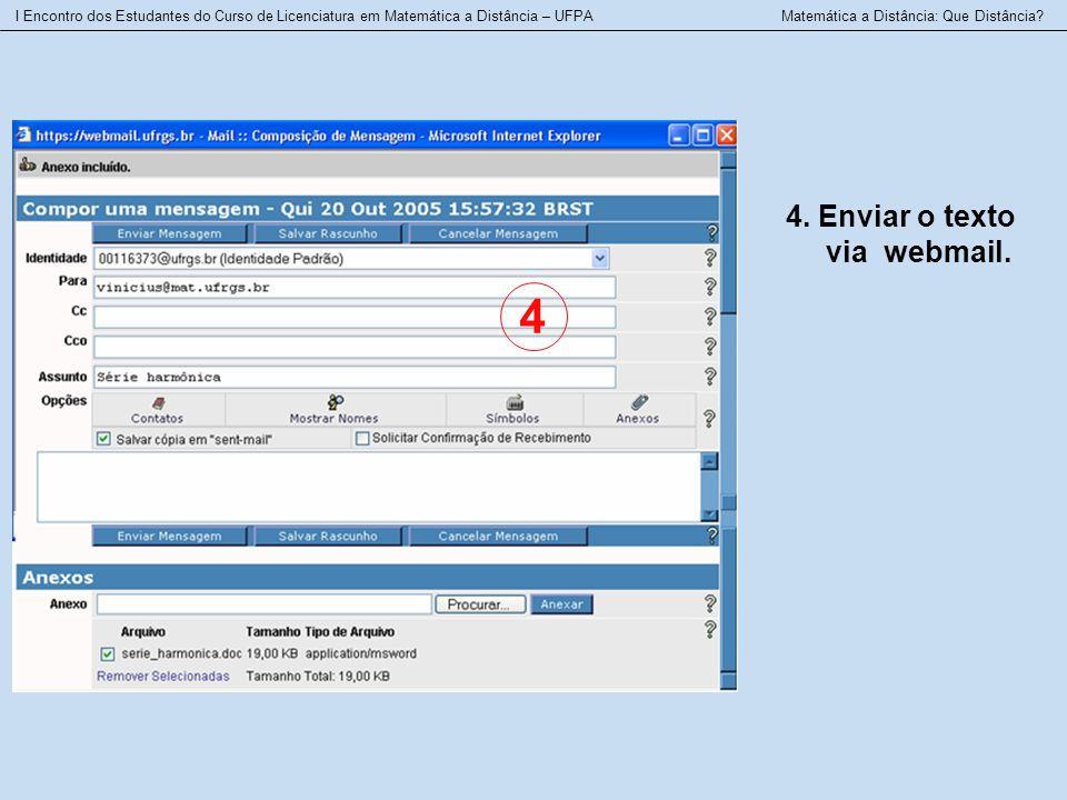 4 4. Enviar o texto via webmail.