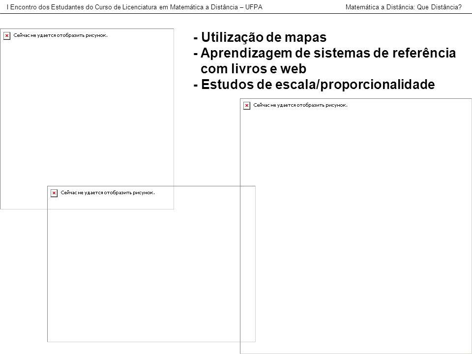 - Aprendizagem de sistemas de referência com livros e web