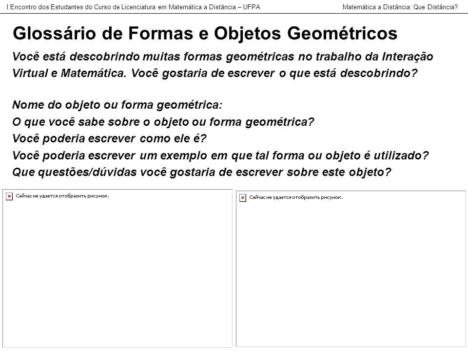 Glossário de Formas e Objetos Geométricos