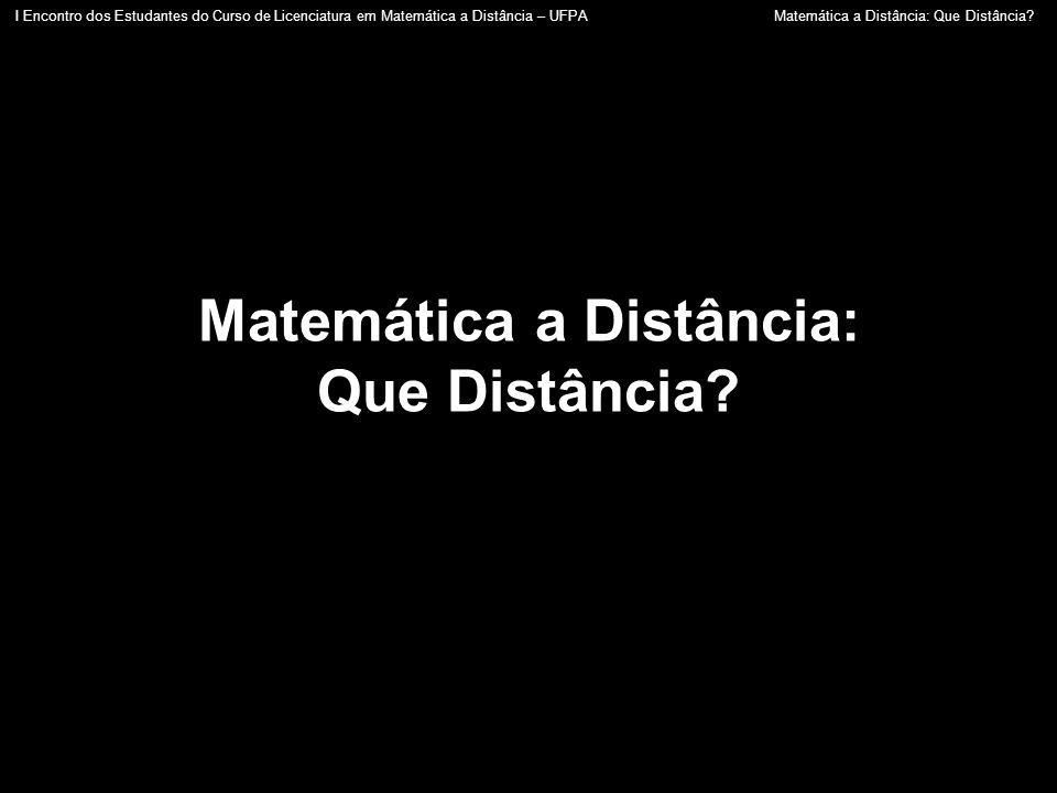 Matemática a Distância: