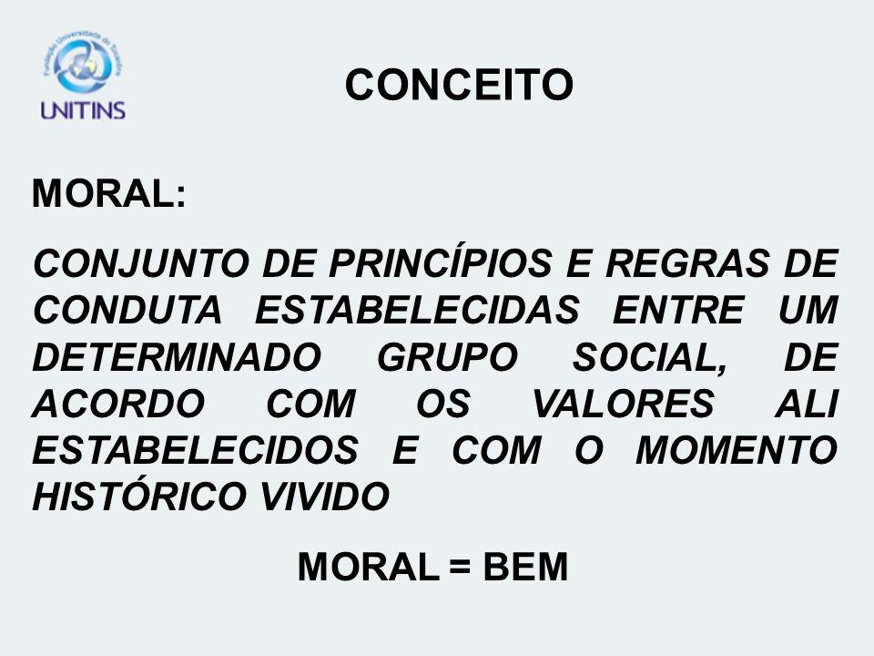 CONCEITO MORAL: