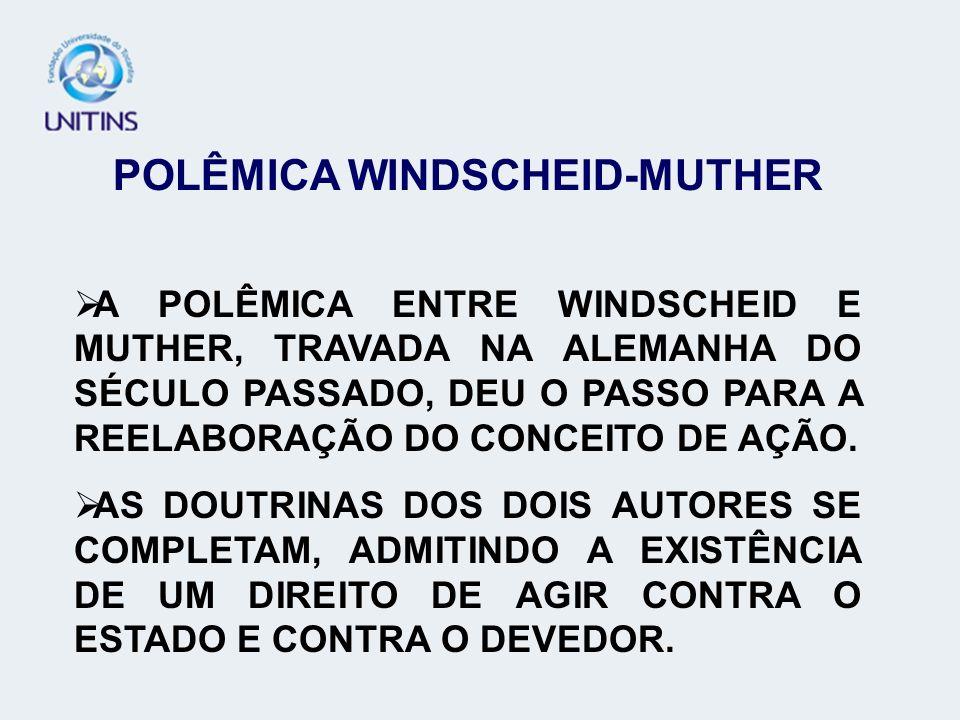 POLÊMICA WINDSCHEID-MUTHER