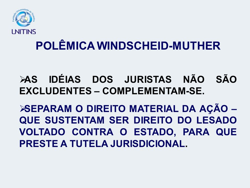 POLÊMICA WINDSCHEID-MUTHER