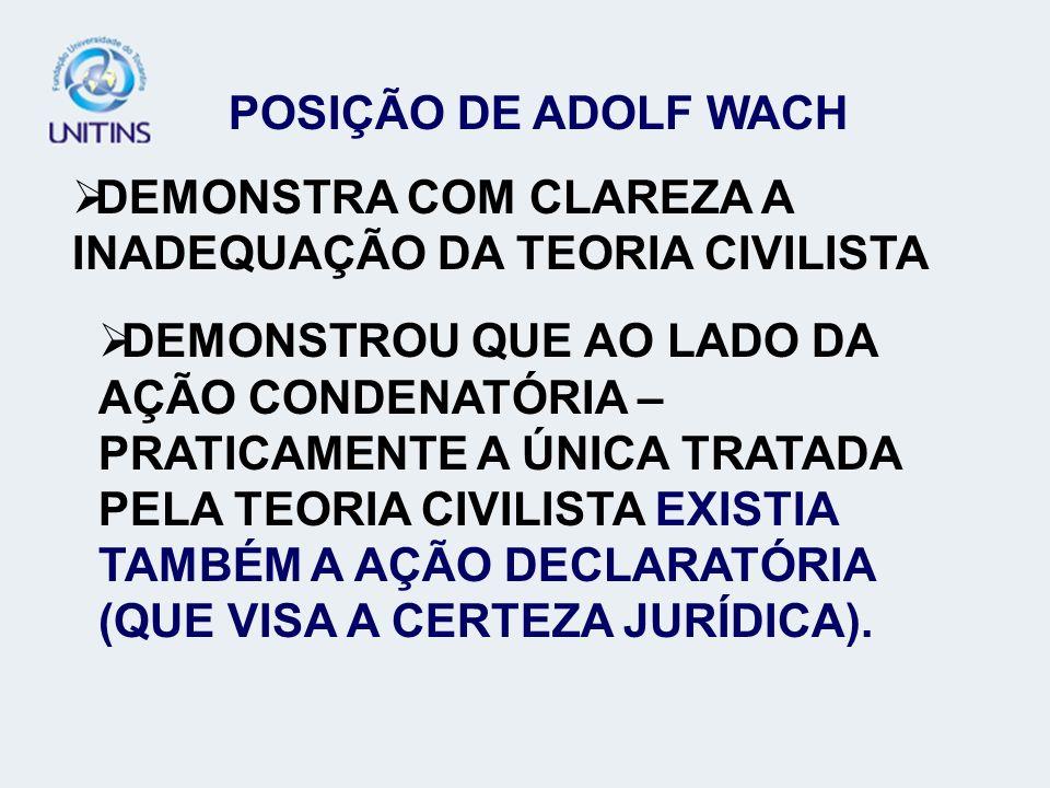DEMONSTRA COM CLAREZA A INADEQUAÇÃO DA TEORIA CIVILISTA