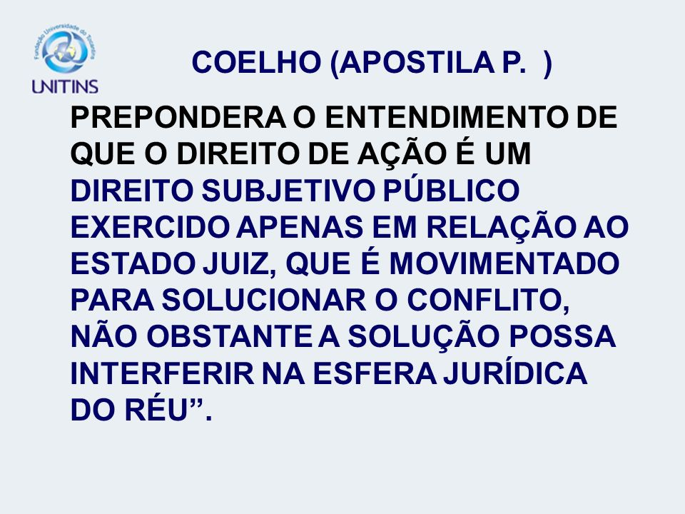 COELHO (APOSTILA P. )