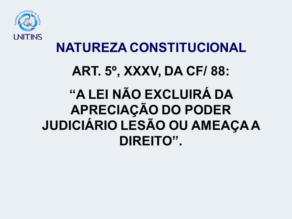 NATUREZA CONSTITUCIONAL