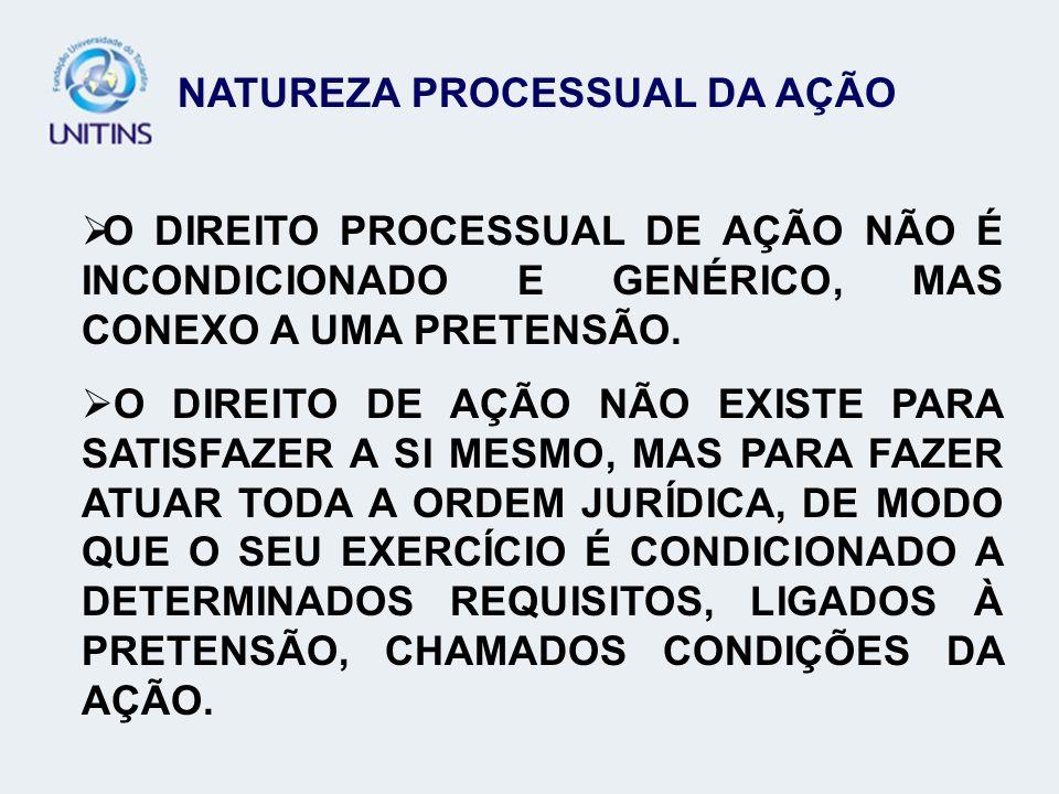 NATUREZA PROCESSUAL DA AÇÃO