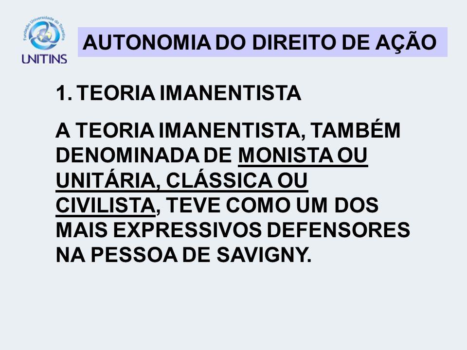 AUTONOMIA DO DIREITO DE AÇÃO