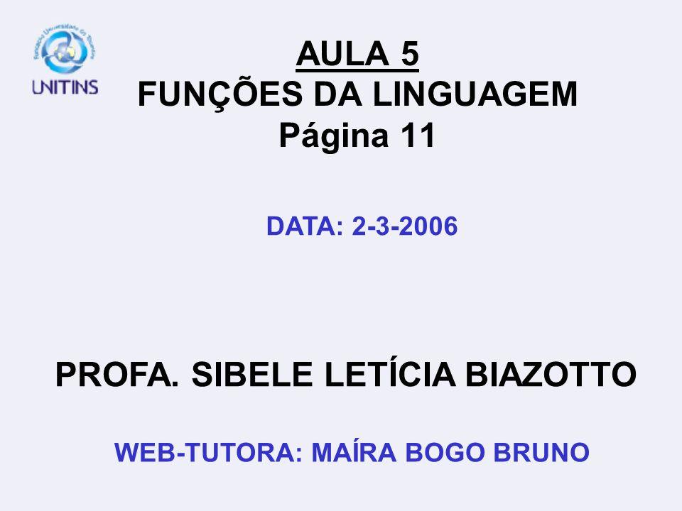 AULA 5 FUNÇÕES DA LINGUAGEM Página 11