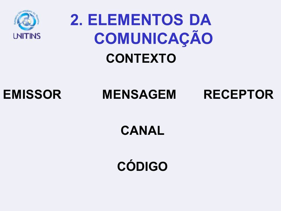 2. ELEMENTOS DA COMUNICAÇÃO
