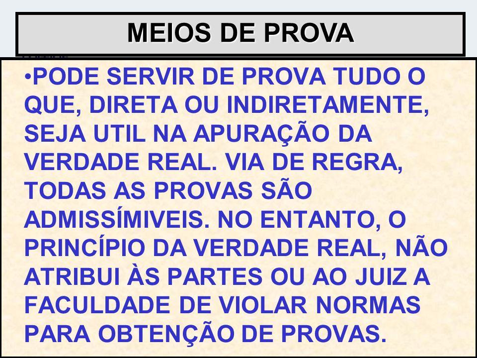 MEIOS DE PROVA