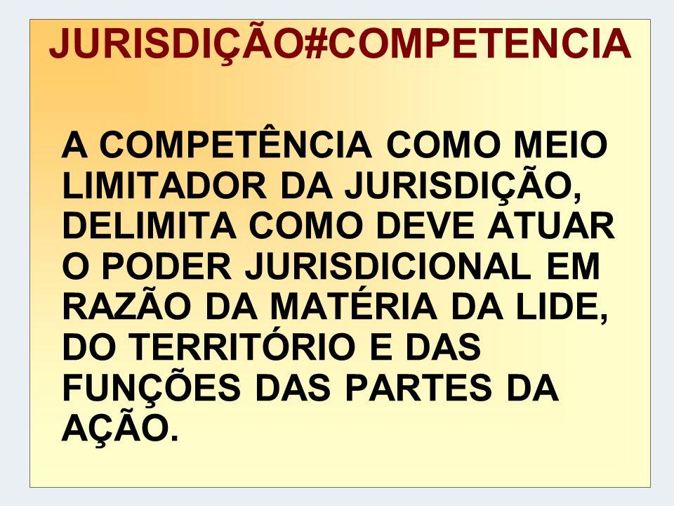 JURISDIÇÃO#COMPETENCIA