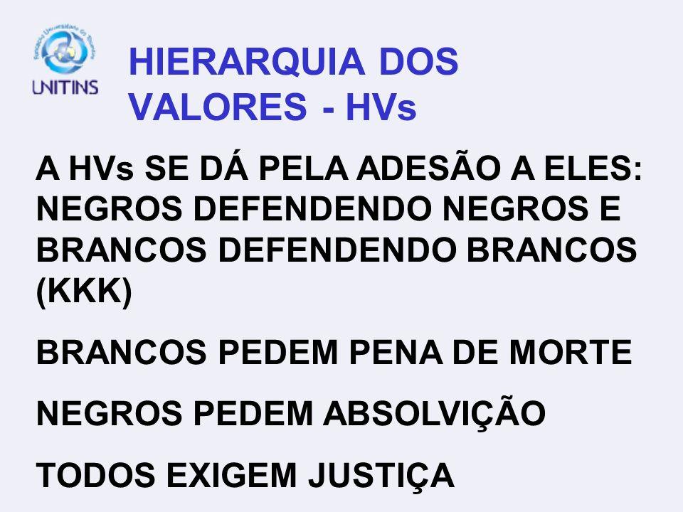 HIERARQUIA DOS VALORES - HVs
