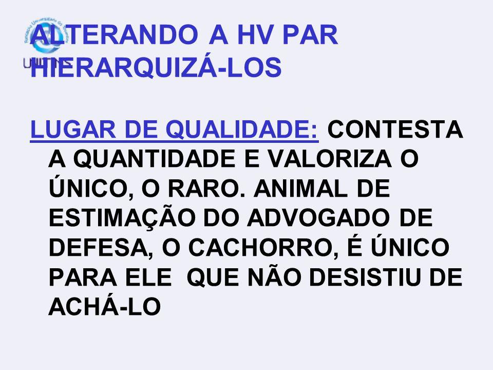 ALTERANDO A HV PAR HIERARQUIZÁ-LOS