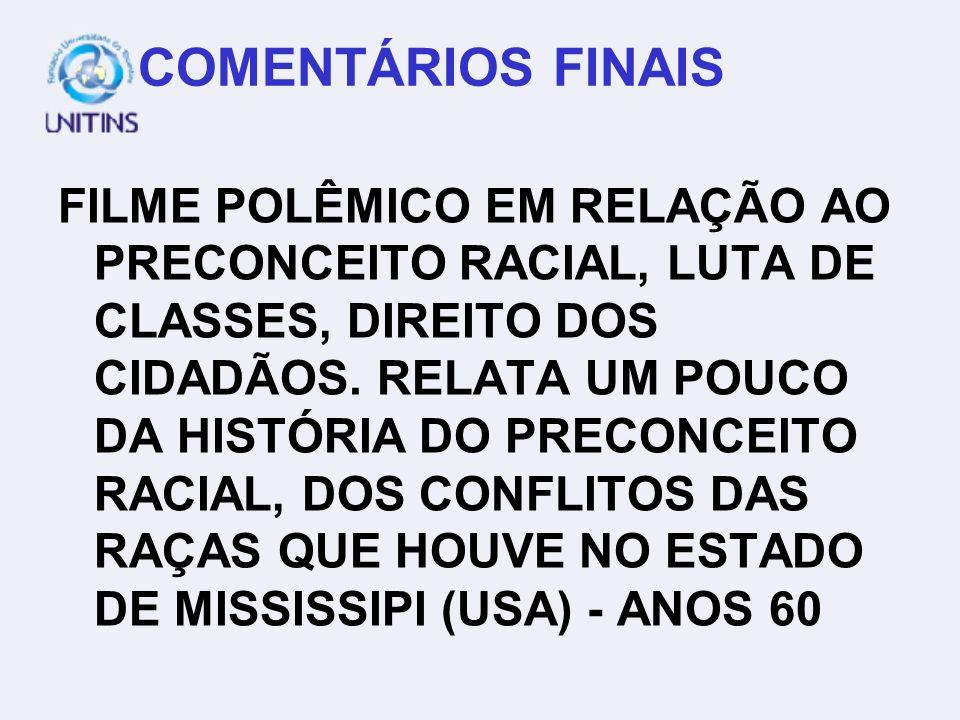 COMENTÁRIOS FINAIS