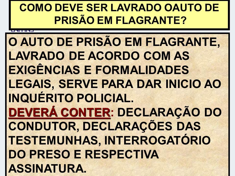 COMO DEVE SER LAVRADO OAUTO DE PRISÃO EM FLAGRANTE