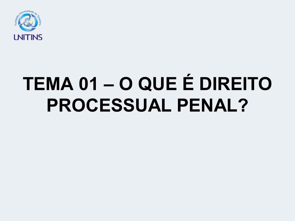 TEMA 01 – O QUE É DIREITO PROCESSUAL PENAL