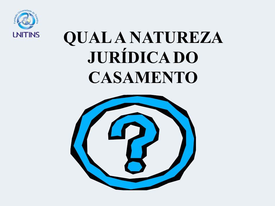 QUAL A NATUREZA JURÍDICA DO CASAMENTO