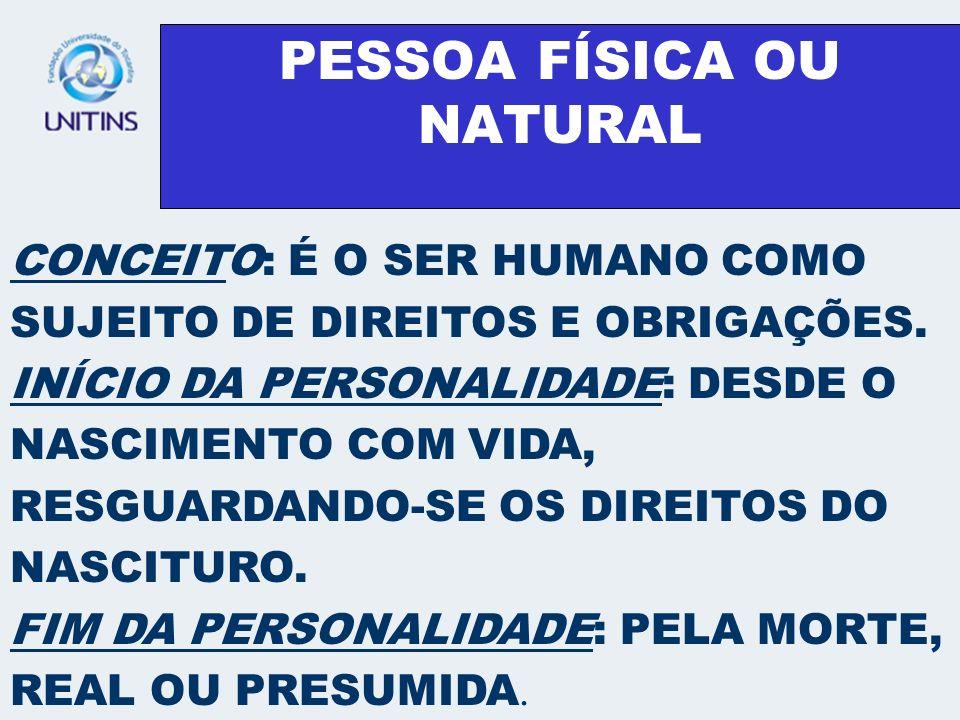 PESSOA FÍSICA OU NATURAL