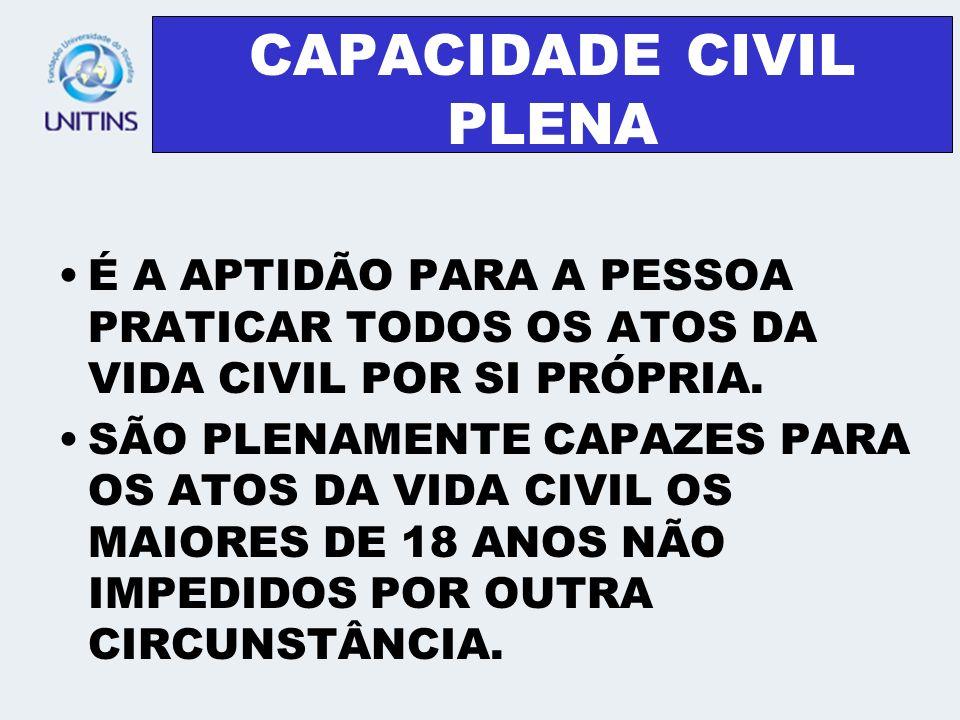 CAPACIDADE CIVIL PLENA