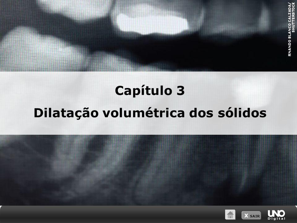Dilatação volumétrica dos sólidos