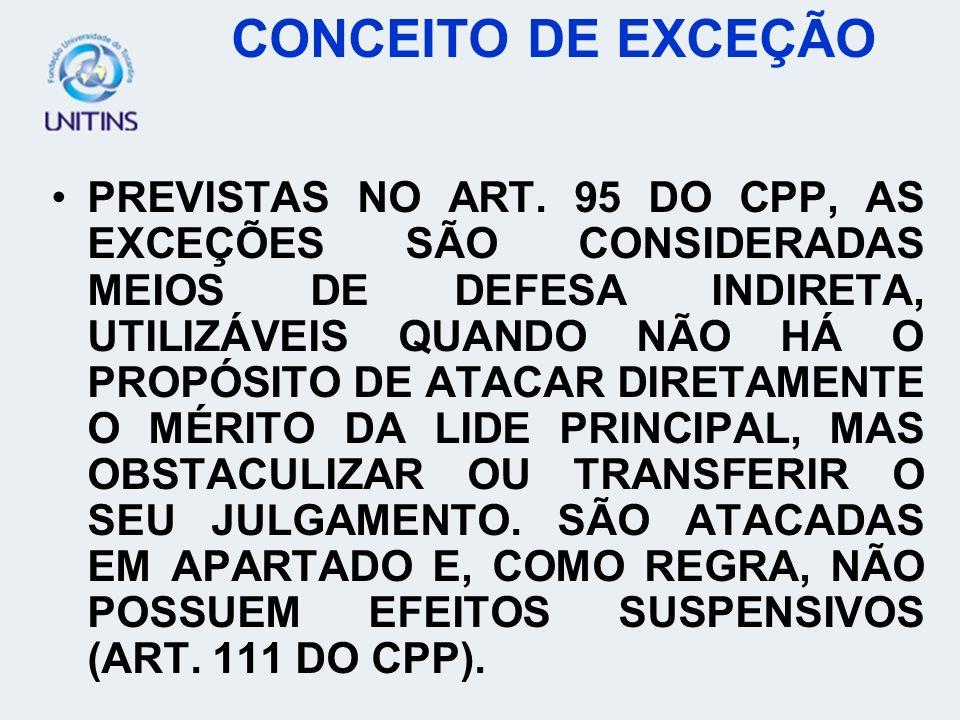 CONCEITO DE EXCEÇÃO